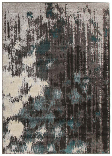 Capri Modern Rug Blue Charcoal Grey - Fantastic Rugs