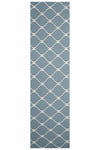 Flat Weave Stitch Design Rug Blue - Fantastic Rugs