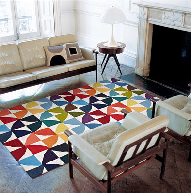 Flat Weave Fun Multi Coloured Rug - Fantastic Rugs