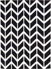 Chevron Flat Weave Rug Black - Fantastic Rugs