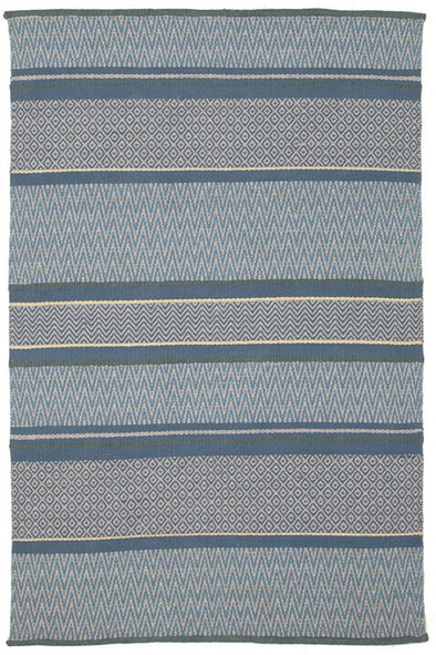 Sky dream Wool Viscose Flat woven Blue Rug - Fantastic Rugs