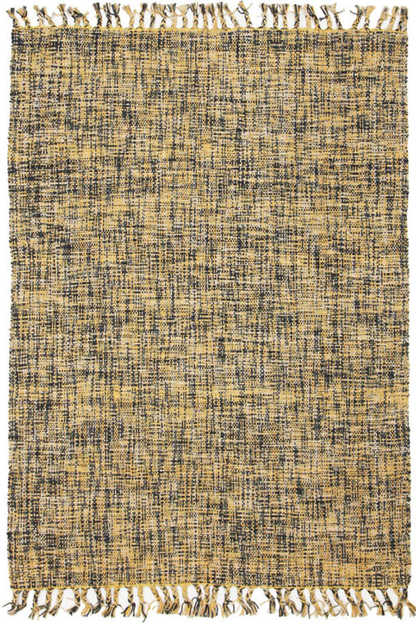 Sunshine Cotton Flat woven Yellow Rug - Fantastic Rugs