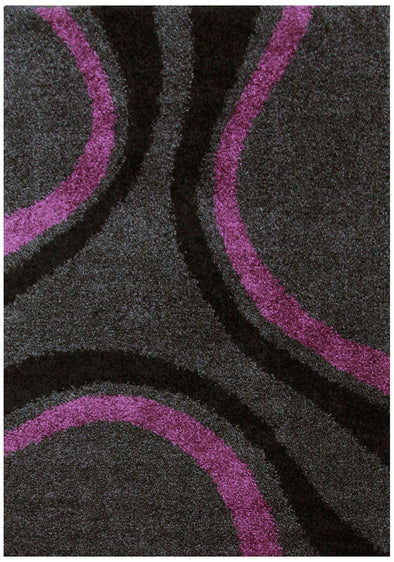 Stylish Curves Rug Black Charcoal - Fantastic Rugs