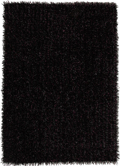 Metallic Thick, Thin Shag Rug Aubergine Grey - Fantastic Rugs