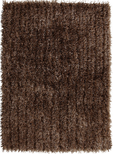 Metallic Thick, Thin Shag Rug Beige - Fantastic Rugs