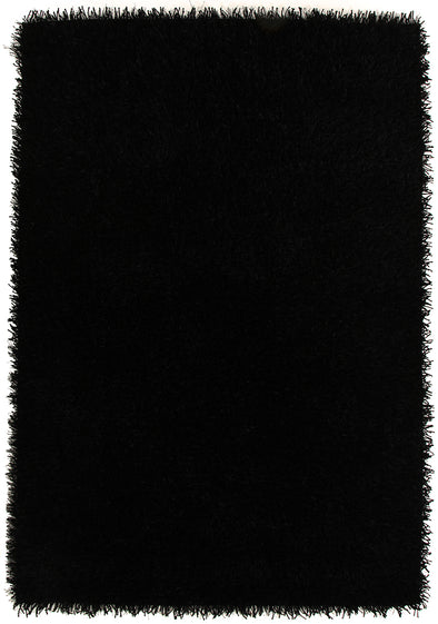 Metallic Thick, Thin Shag Rug Black - Fantastic Rugs