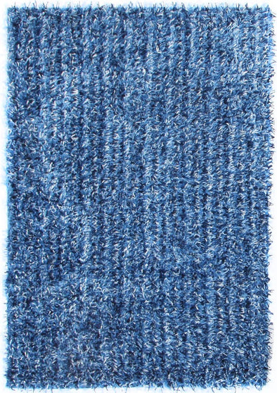 Metallic Thick, Thin Shag Rug Blue and Navy - Fantastic Rugs