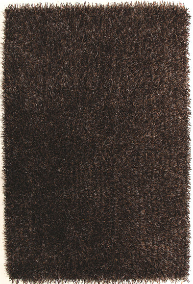 Metallic Thick, Thin Shag Rug Brown and Beige