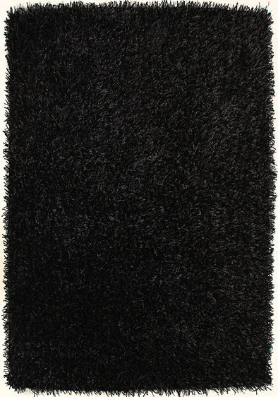 Metallic Thick, Thin Shag Rug Charcoal - Fantastic Rugs