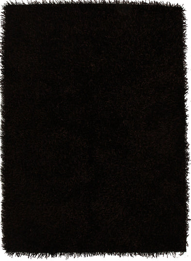 Metallic Thick, Thin Shag Rug Choc Brown