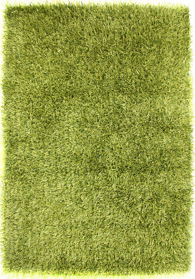 Metallic Thick, Thin Shag Rug Lime