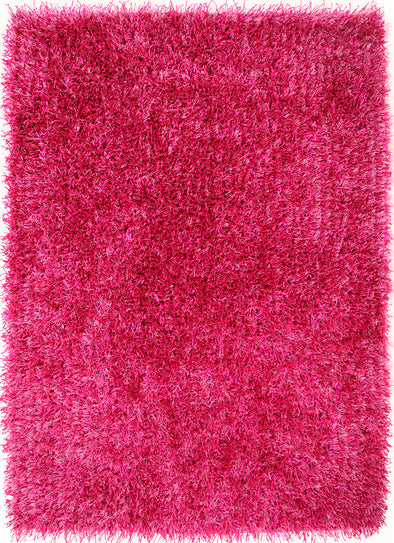 Metallic Thick, Thin Shag Rug Fuchsia - Fantastic Rugs