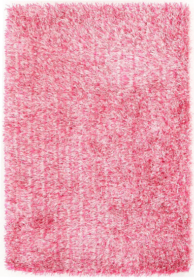 Metallic Thick, Thin Shag Rug Pink - Fantastic Rugs