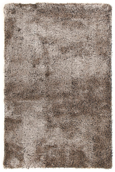 Plush Luxury Shag Rug Silver Taupe Mix
