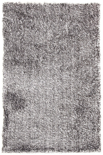 Plush Luxury Shag Rug Black White Mix - Fantastic Rugs