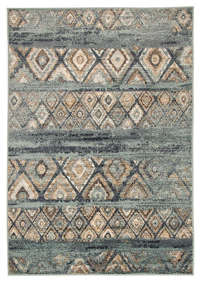 Mayfair Contrast Blue Rug - Fantastic Rugs