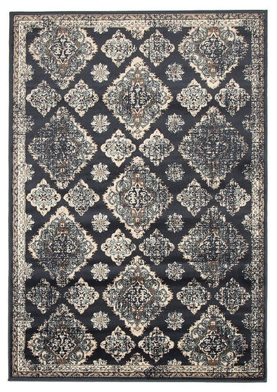 Mayfair Timeline Navy Rug - Fantastic Rugs