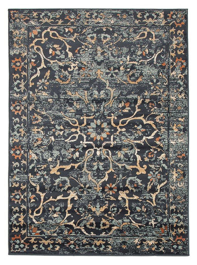 Mayfair Stem Navy Rug - Fantastic Rugs