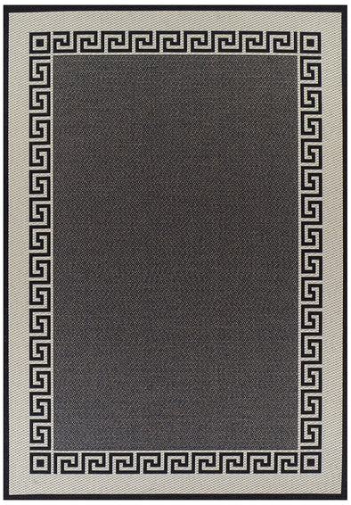 Indoor Outdoor Key Design Rug Charcoal