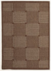 Indoor Outdoor Box Design Rug Brown - Fantastic Rugs