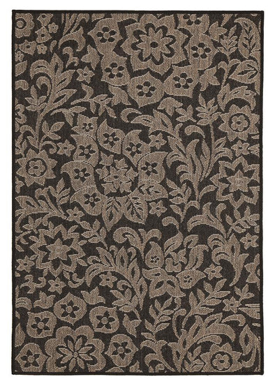 Independence Indoor Outdoor Modern Black Rug