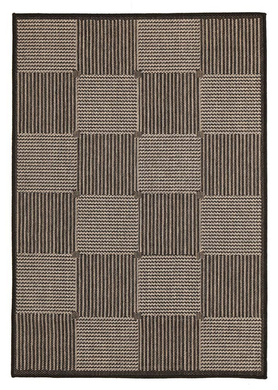 Witchery Indoor Outdoor Modern Black Rug