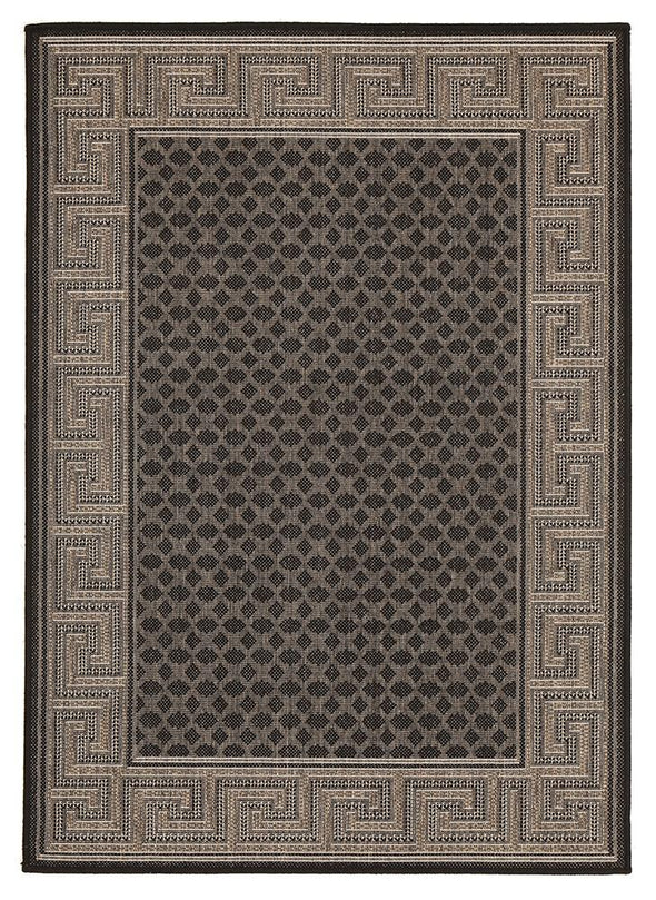 Night Indoor Outdoor Modern Black Rug - Fantastic Rugs