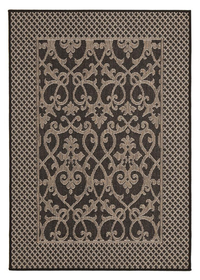 Singular Indoor Outdoor Modern Black Rug - Fantastic Rugs