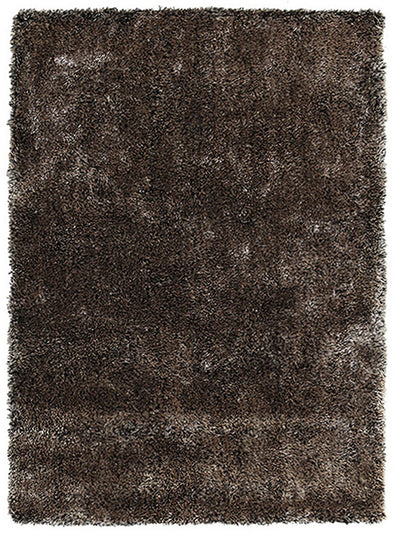 Thick Plush Shimmering Shag Rug Gold Black