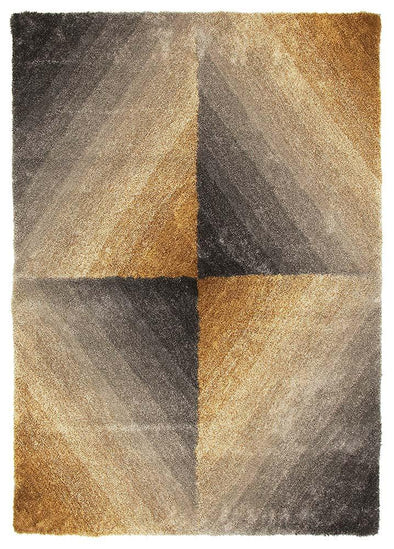 Molino Grey Gold Multi Coloured Textured Rug - Fantastic Rugs