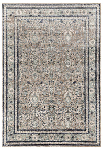 Esquire Rim Traditional Beige Rug - Fantastic Rugs