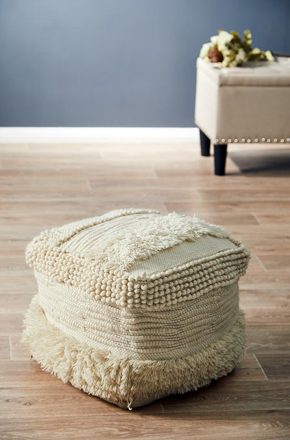 Rug Culture Home 502 Ivory Ottoman - Fantastic Rugs