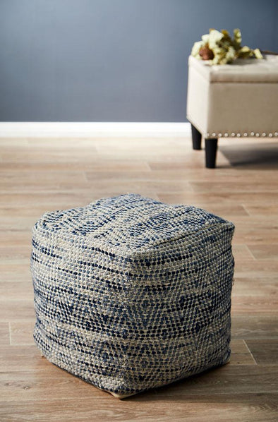 Rug Culture Home 504 Blue Ottoman - Fantastic Rugs