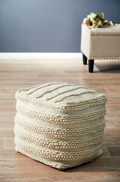 Rug Culture Home 506 Ivory Ottoman - Fantastic Rugs