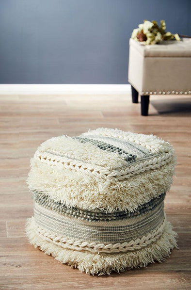 Rug Culture Home 507 Ivory Ottoman