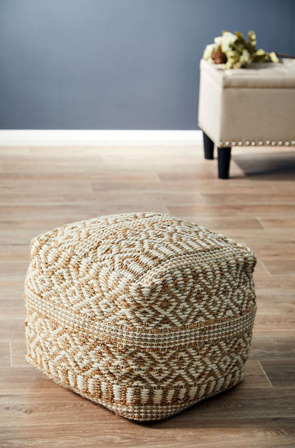 Rug Culture Home 519 Natural Ottoman - Fantastic Rugs