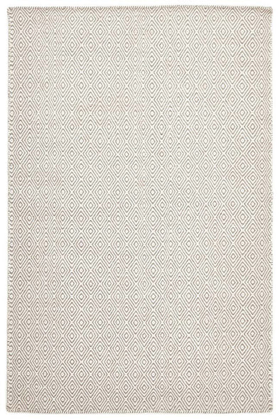 Shiva Stunning Silver Grey Diamond Wool Rug