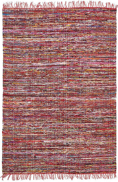 Primal Chindi Cotton Rug Red - Fantastic Rugs