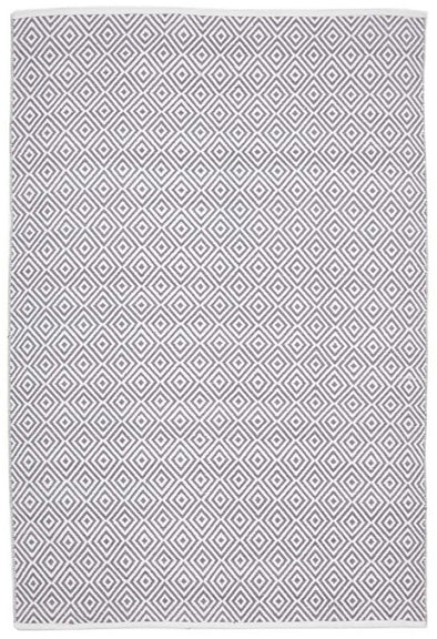 Villa Modern Diamond Rug Grey
