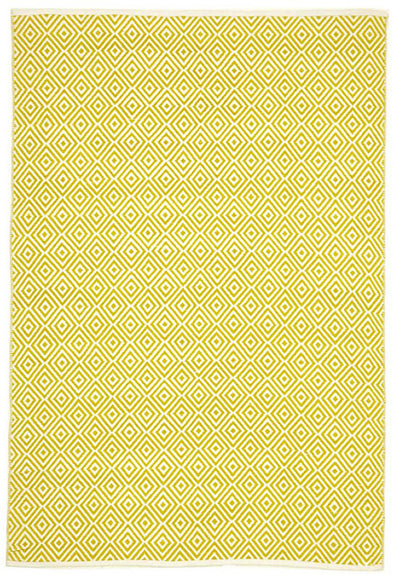 Villa Modern Diamond Rug Yellow - Fantastic Rugs