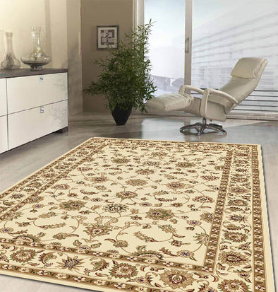 Classic Rug Ivory with Ivory Border - Fantastic Rugs
