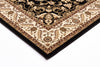 Medallion Rug Black with Ivory Border
