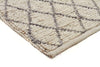 Luxury Madras Felted Wool Rug Blue Ivory - Fantastic Rugs