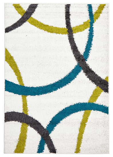 Brooklyn Shag Rug White - Fantastic Rugs