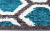 Hive Shag Rug Charcoal and Blue - Fantastic Rugs