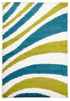 Burst Shag Rug Blue and Green - Fantastic Rugs