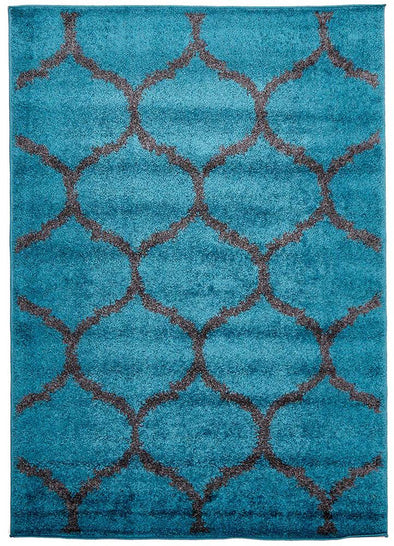 Shadow Shag Rug Blue