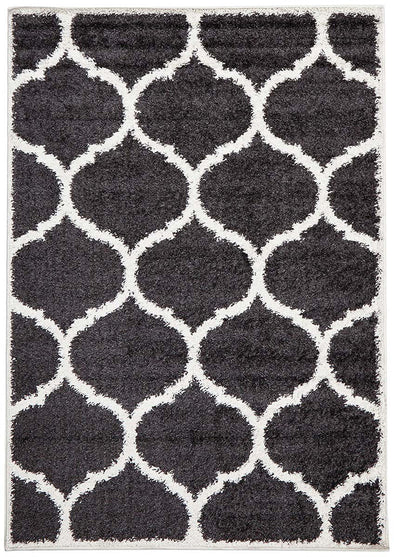 Shadow Shag Rug Charcoal - Fantastic Rugs