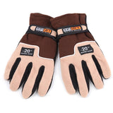 Adjustable Gloves Men Full Finger Fleece Outdoor Windproof Thermal Winter Ski Cycling Skiing Hiking
