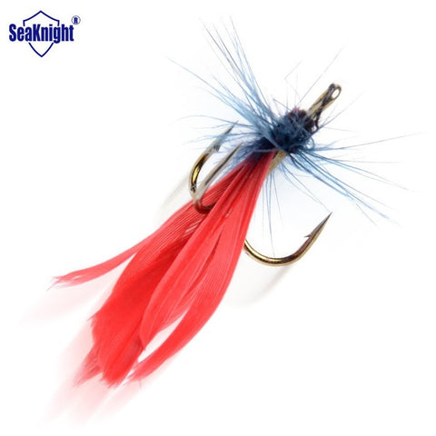 SeaKnight 60pcs Feather Insect  Fishing Bait Treble Hook Dry Fly Fishing Lure Articficial Carp Trout Fish Bait